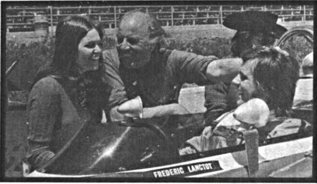 Le réalisateur Anton Van De Water et ses deux comédiens Pierre Lalonde et Karina Tonisso sur le tournage du film La Maîtresse de 1973
