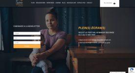 Image de la page d'accueil du site web Mon cinéma québécois en France