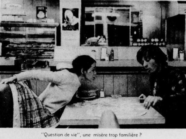 Frédérique Collin et Alain Gélinas dans Question de vie de André Théberge (archives presse)