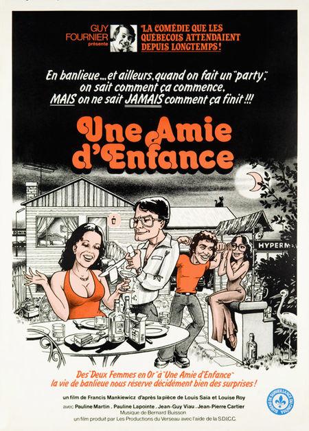 Affiche du film Une amie d'enfance de Francis Mankiewicz (Collection cinémathèque québécoise)
