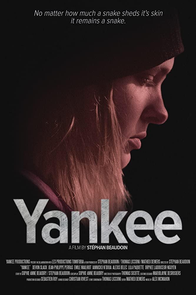 Yankee - affiche où l'on voit le visage de la protagoniste en gros plan, de profil